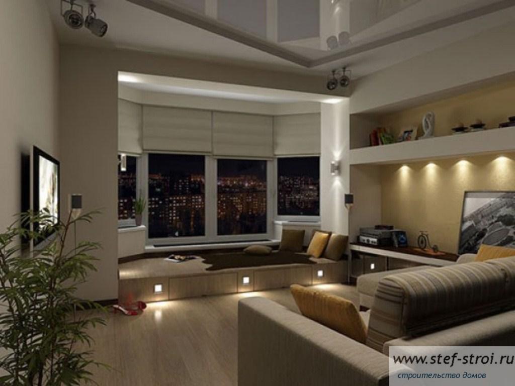 Практичный подиум в интерьере. 45 фото дизайна комнаты с под.