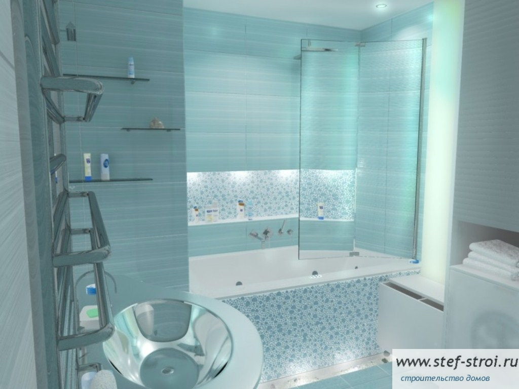 Ванная комната бирюзового цвета фото